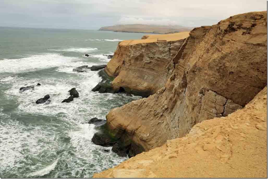 Paracas Peninsula coastline at Cathedral Rock