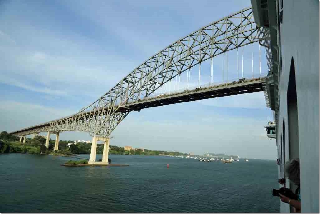 Passing under Bridge of the Americas
