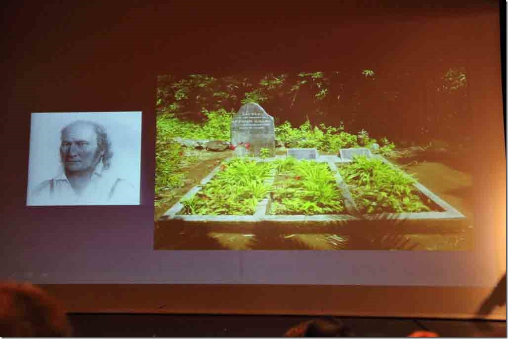 Pitcairn lecture grave of John Adams last surviving mutineer