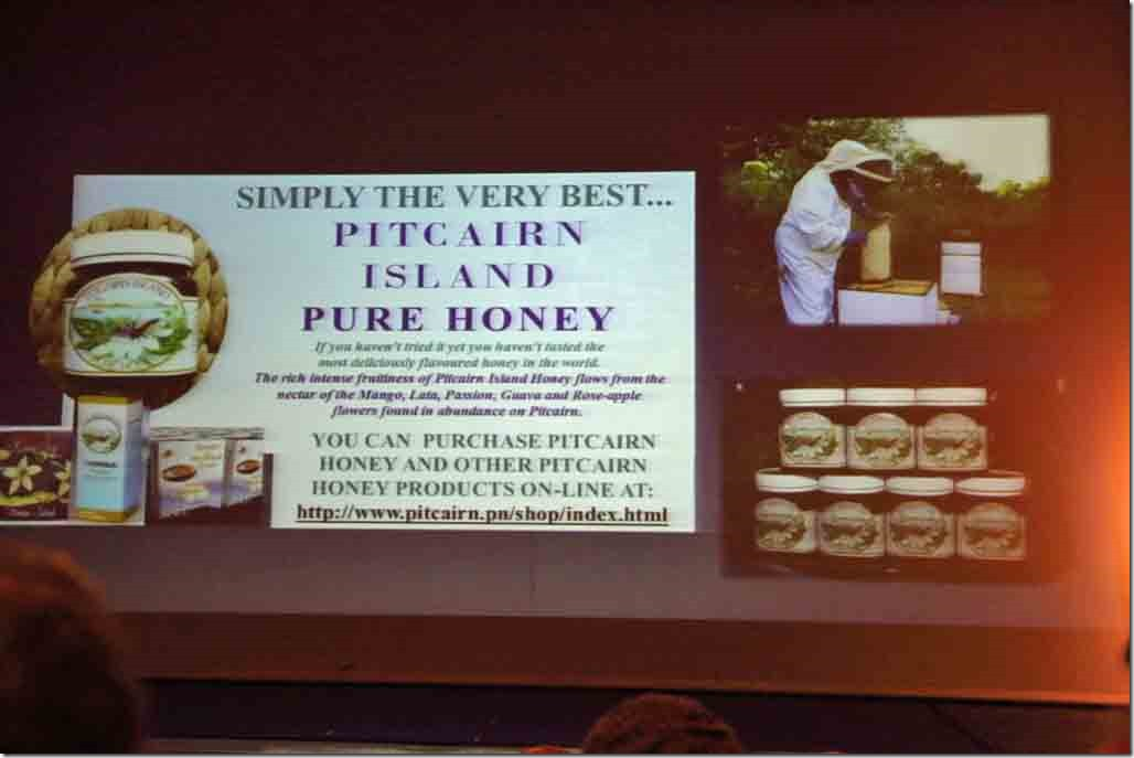 Pitcairn lecture honey one of the biggest exports