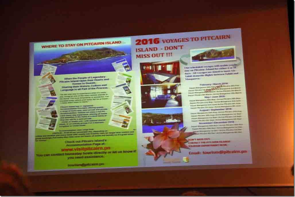 Pitcairn lecture tourist brochure