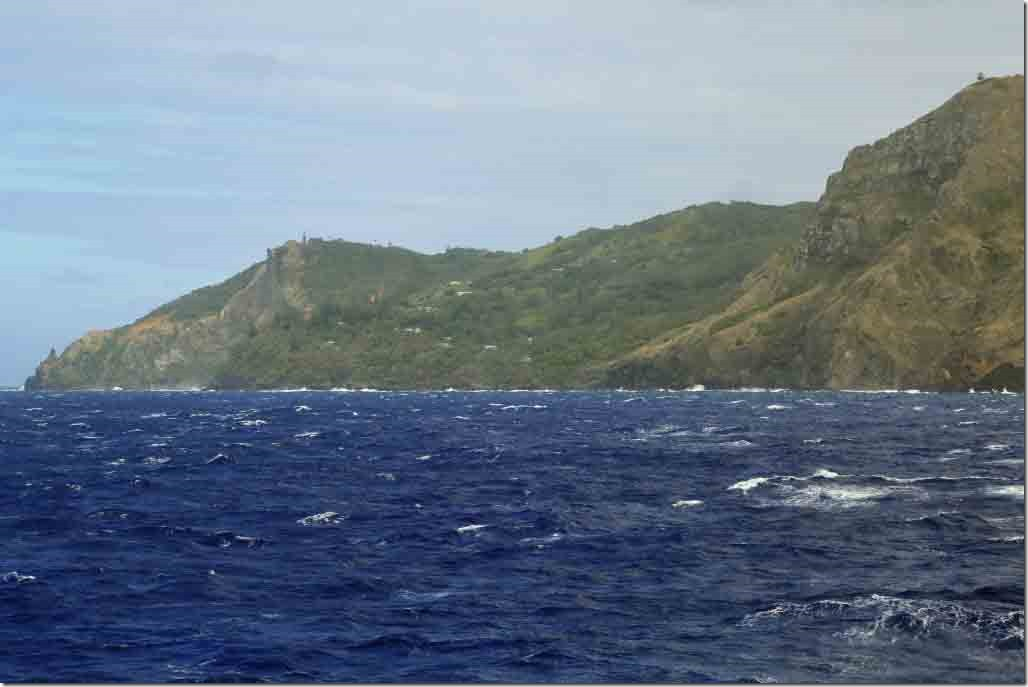 Scenic cruise NE inhabited side of Pitcairn Island