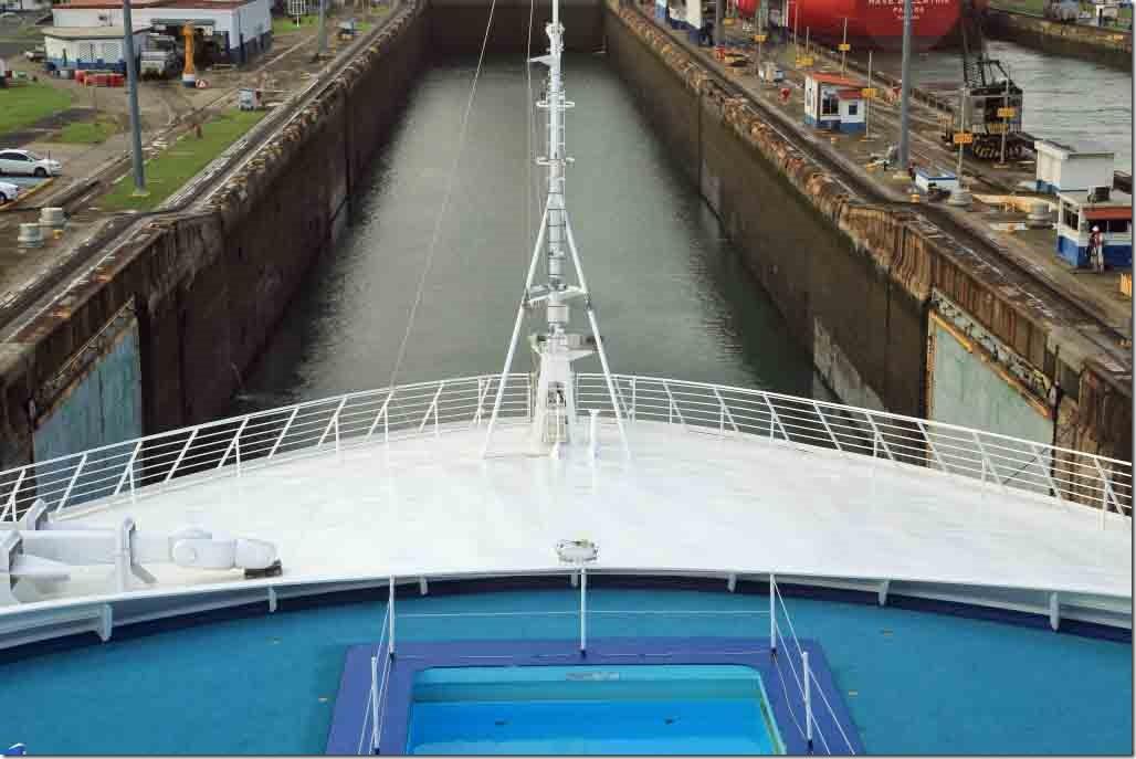 Sea Princess entering the second lock