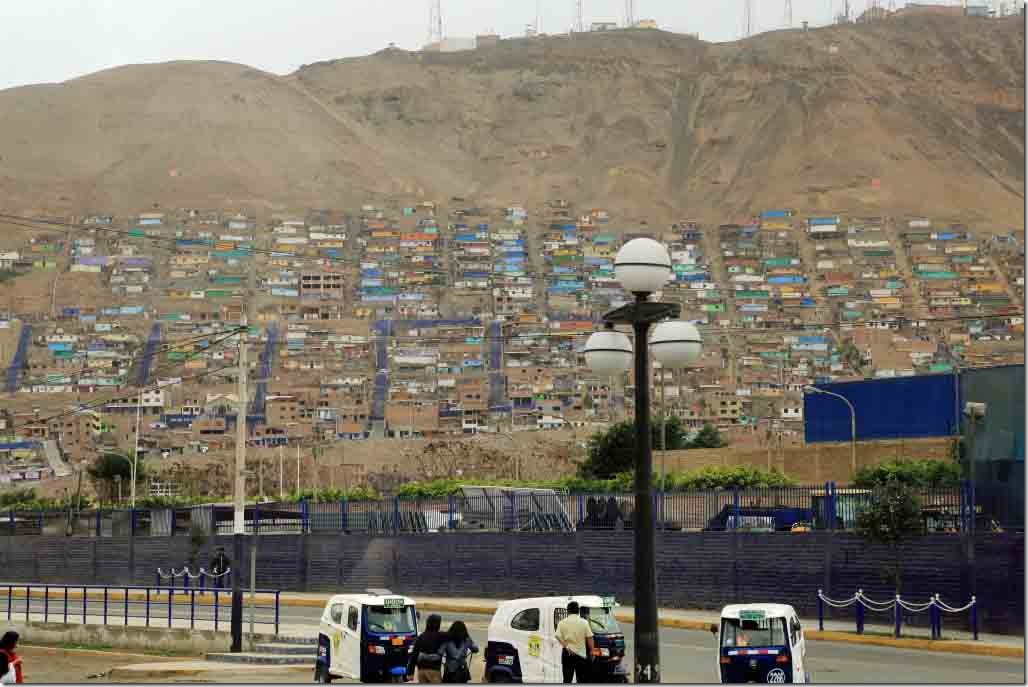 Slums built on the hill