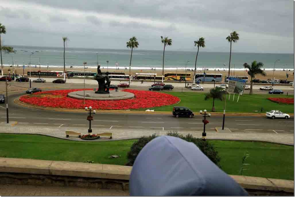 South Lima beach and statue