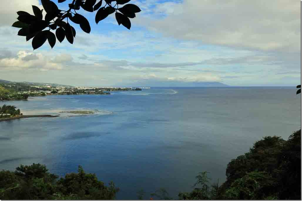 Tahara's One Tree Hill with views of Matavai Bay, Papeete, Lagoon and Moorea