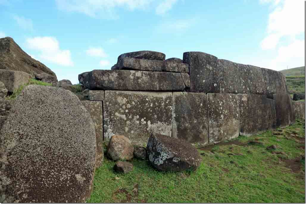 Vinapu base or ahu which was built over the buried bones of an important person