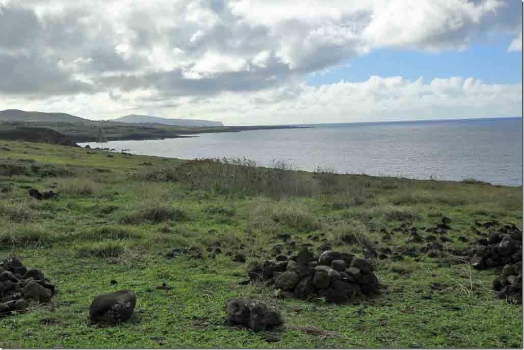Vinapu I looking along south coast of Easter Island