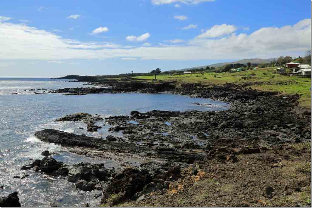Walk - black lava coastline on west side of the island