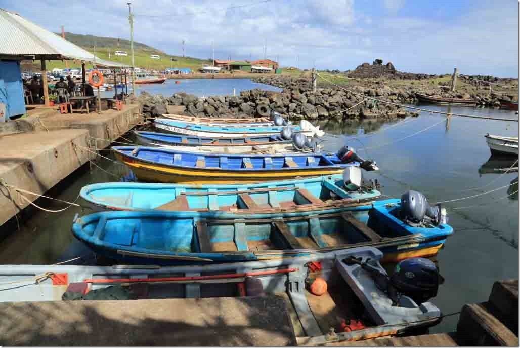 Walk - colourful fishing boats in the tender harbour