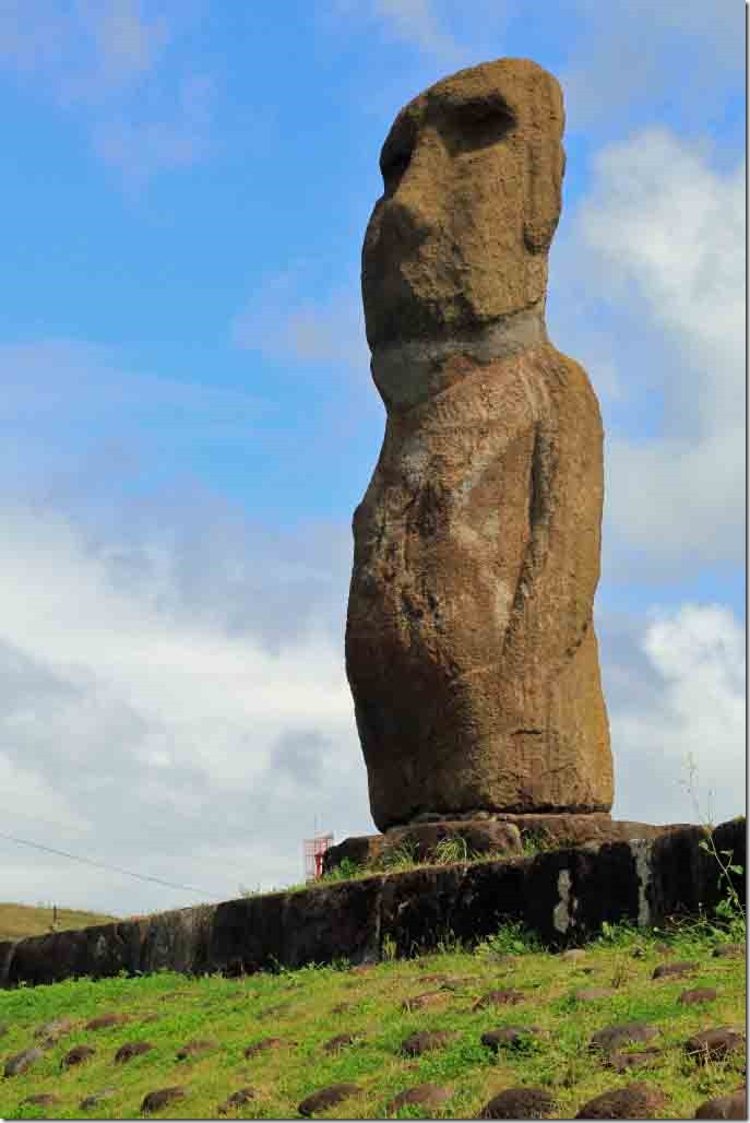 Walk - Moai statue by the tender harbour