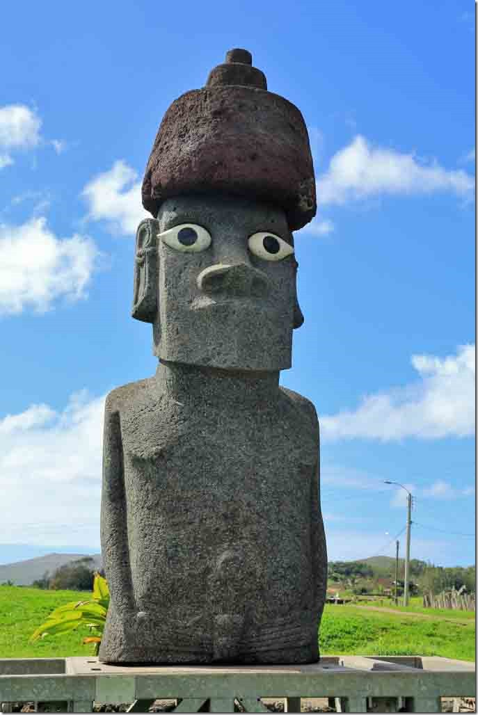 Walk - Moai type statue in the park passed downtown