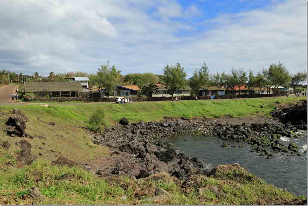 Walk - row of nice waterfront homes