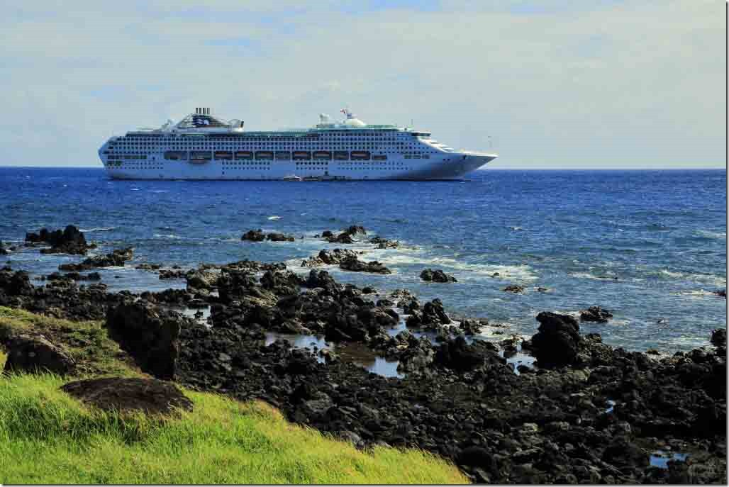 Walk - Sea Princess anchored a short distance offshore