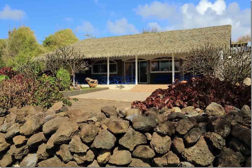 Walk - thatched roof water front home