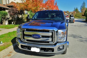 New F350 Dually from front