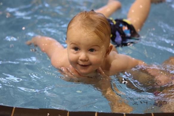 Owen swimming