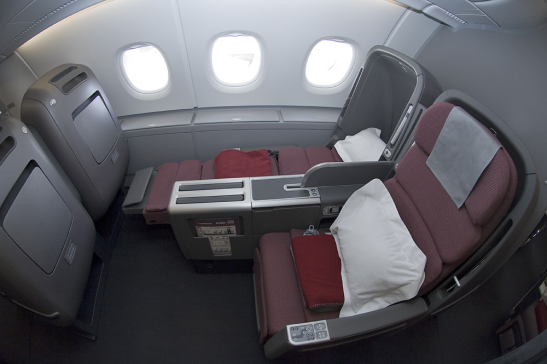 Qantas 380 business seats
