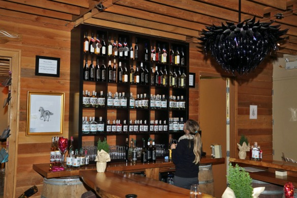 deVine Winery shelf of Gin, Rum & Vodka