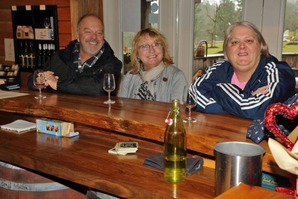 deVine winery tasting room Richard Karen & Judi
