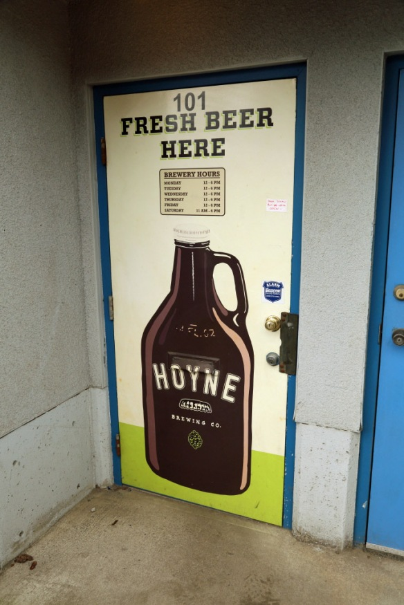 Hoyne Brewery tasting room entrance