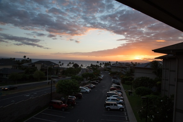 Worldmark Kihei first sunset from the balcony