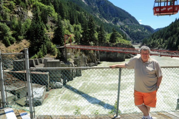 Hells Gate Andy at base station with Fraser River in background