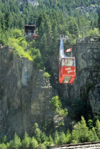 Hells Gate upper station and tram enroute