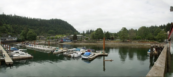 Horseshoe Bay panorama looking ashore