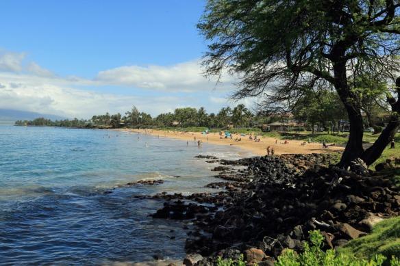 Kam 1 beach from between Kam I & II