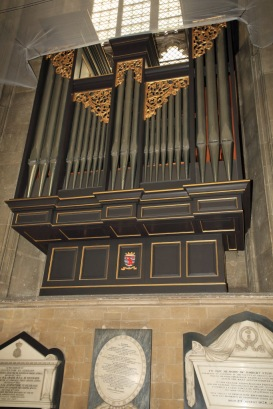 Canterbury Cathedral - small organ in the nave
