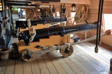 28Portsmouth HMS Victory bigger cannons at aft end Upper Gun Deck