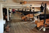 29Portsmouth HMS Victory cannons of the Upper Gun Deck