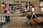 31Portsmouth HMS Victory Judi and cannon on the Upper Gun Deck