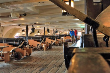 34Portsmouth HMS Victory row of cannons