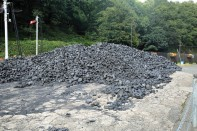 Haverthwaite Station coal pile