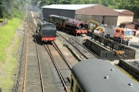 Haverthwaite Station engine changing ends 5