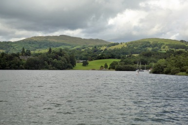 Lake Windermere rolling hills on east shore