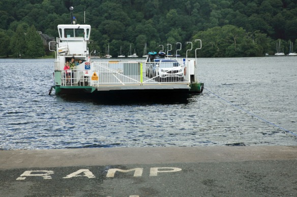 Windermere ferry docking at Bowness