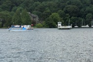 Windermere ferry heading over to Bowness side
