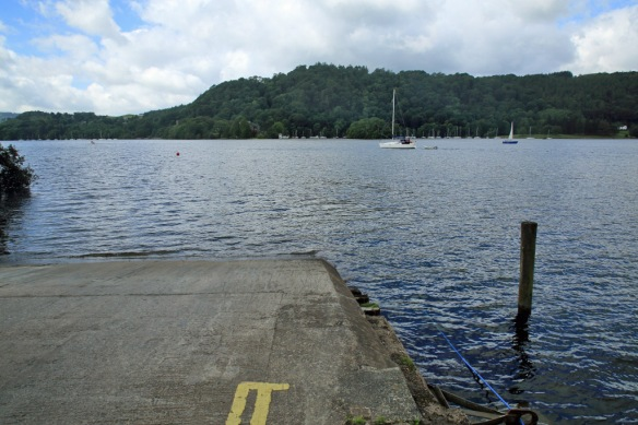 Windermere ferry ramp on Bowness side