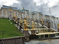 156 Peterhof Palace - Grand Cascade from lower garden