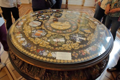 51 Hermitage Mosaic table with Apollo and the Muses