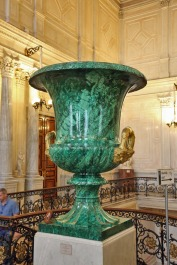52 Hermitage large Malachite Vase