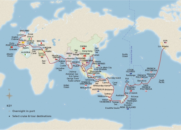 Viking World Wonders Cruise Map