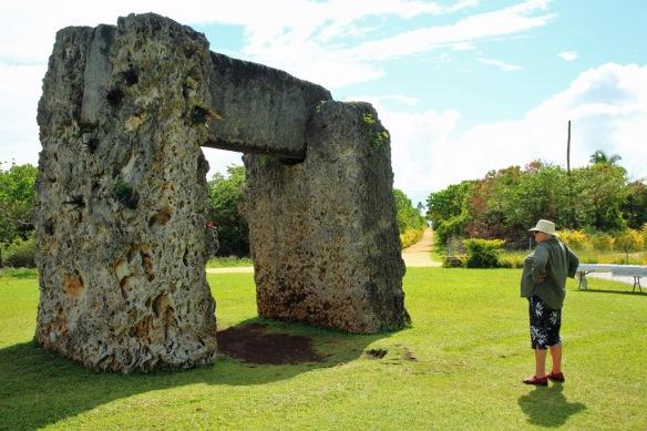 04 Ha'amonga A Maui monument with Judi