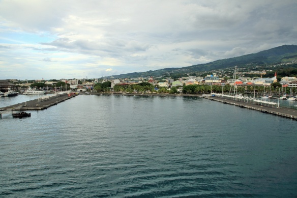 12 Backing into berth at Papeete