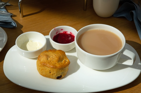 Afternoon tea and scone