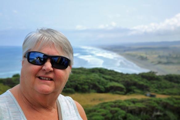 Judi at Muriwai Beach