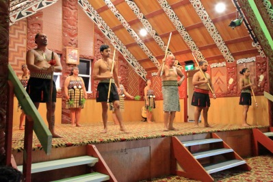 Marae ceremony begins